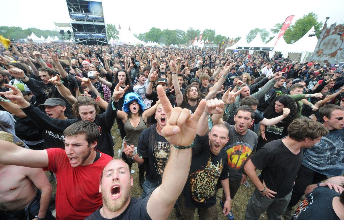 CLISSON, le 15/06/2012 Le Hellfest, festival de HARD METAL ROCK – FABRICE ELSNER/20 MINUTES