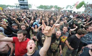 CLISSON, le 15/06/2012 Le Hellfest, festival de HARD METAL ROCK