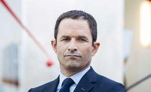 Benoît Hamon, candidat PS à la présidentielle, le 27 mars 2017 à Paris
