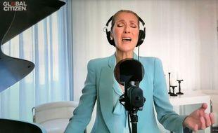 Céline Dion lors du concert « One World Together At Home »
