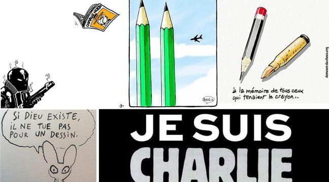 VIDEO. Attentat contre «Charlie Hebdo»: Les hommages émus se dessinent