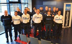 Les nouveaux policiers municipaux de Montpellier.