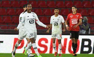 La joie de Renato Sanches et des Lillois après leur succès dimanche à Rennes