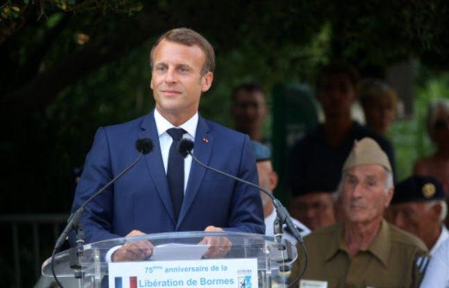 A Bormes-les-Mimosas, Emmanuel Macron lance un appel à la «réconciliation» des Françaises et des Français