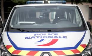 Une voiture de police en région parisienne. (illustration).