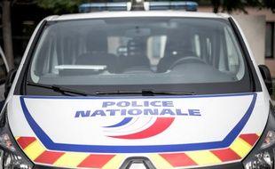 Une voiture de police en région parisienne. (illustration)