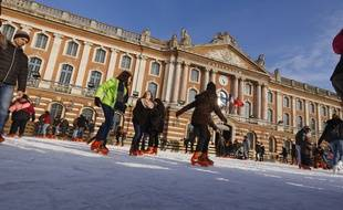 La patinoire sur la place du Capitole (archives)