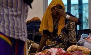 Une migrante Rohingya dans un centre d'hébergement provisoire à Langkawi en Malaisie, le 12 mai 2015