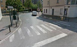 L'accident s'est produit entre la rue du Louis d'Or et le boulevard de Chézy.