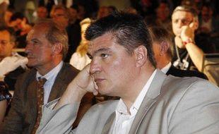 David Douillet lors d'un meeting UMP le 26 juin 2009 à Paris.