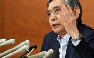 Le gouverneur de la Banque centrale du Japon, Haruhiko Kuroda, le 19 juin 2015 à Tokyo