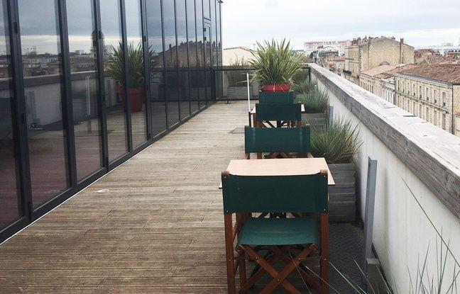 Le roof top des tables Vatel, au cinquième étage du bâtiment quai des Chartrons à Bordeaux.