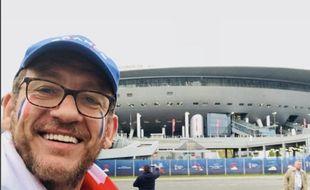 Dany Boon a fait le déplacement en Russie pour soutenir les Bleus.