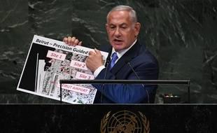 Benyamin Netanyahou à l'Assemblée générale de l'ONU, le 27 septembre 2018, à New York.