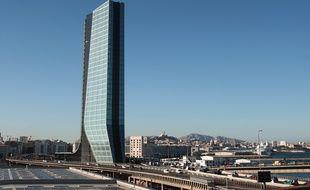 Le siège de la CMA CGM dans le quartier Euromediterranée.