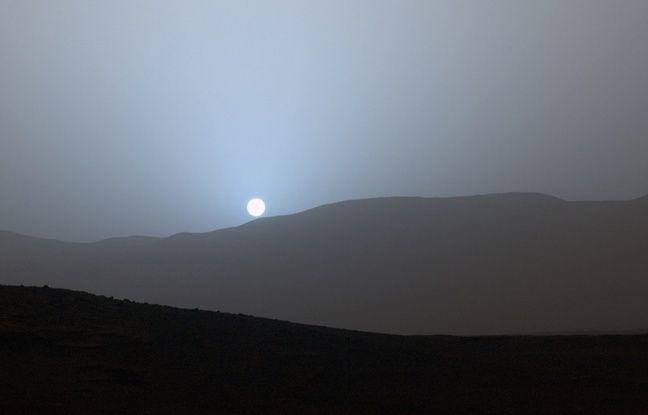 Un coucher de soleil sur Mars, photographié par Curiosity.