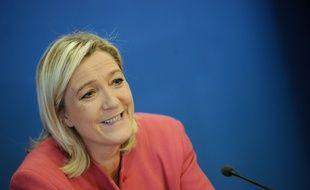 Marine Le Pen le 15 octobre 2014 au siège du FN.