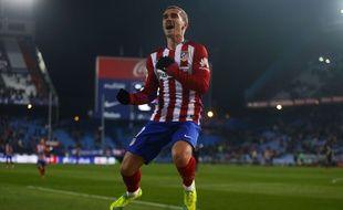 Antoine Griezmann, l'attaquant de l'Atlético Madrid, le 14 janvier 2016.