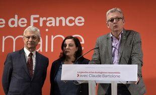 Claude Bartolone (PS), Emmanuelle Cosse (EELV), et Pierre Laurent (FG) ont fusionné leur liste pour le second tour.