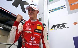 Mick Schumacher, vainqueur du Grand Prix de Formule 3 à Nuerburg, le 9 septembre 2018.