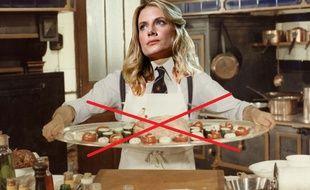 Mélanie Laurent dans un photo montage grossièrement réalisé à partir d'une image de «L'Aile ou la cuisse».