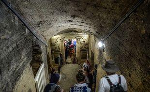 Un système de pompes a été installé pour protéger le site égyptien de la montée des eaux souterraines.