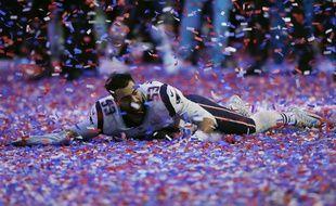 Le Patriot Kyle Van Noy célèbre la victoire des siens contre les Los Angeles Rams au Super Bowl, le 3 février 2019.