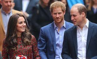 Kate Middleton, le prince Harry et le prince William