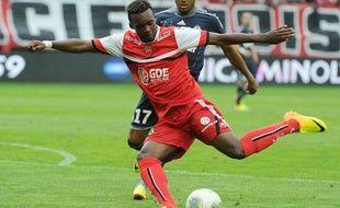 L'attaquant valenciennois Jean-Christophe Bahebeck, formé au PSG, le 24 août 2013 contre Marseille.