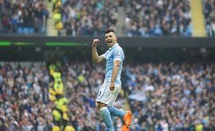 Sergio Aguero a inscrit un quintuplé lors de Manchester City-Newcastle (6-1), le 3 octobre 2015.