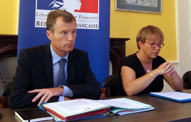Le préfet de Bretagne Christophe Mirmand, ici aux côtés de la maire de Rennes Nathalie Appéré, le 6 septembre 2016.