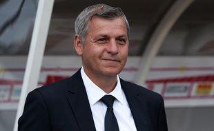 Bruno Genesio, le 14 août dernier lors de la victoire lyonnaise (0-3) à Nancy.