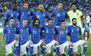 L'équipe nationale d'Italie lors d'un match contre le Luxembourg le 4 juin 2014.