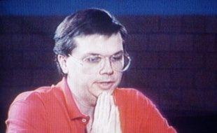 Marc D. Chapman, l'assassin de John Lennon en prison, le 4 décembre 1992.