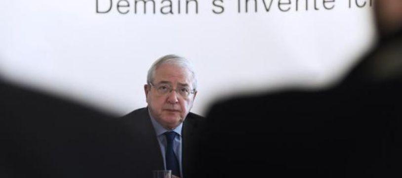 Jean-Paul Huchon, actuel président de la région Ile de France, le 8 avril 2015 à Paris