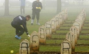 La nécropole de Lorette, profanée en décembre 2008.