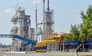 La raffinerie ukrainienne Naftogaz près de Kharkiv le 5 août 2014