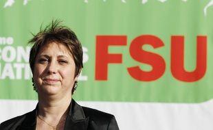 Bernadette Groison, la secrétaire générale de la FSU, le 1er février 2010, à Lille.