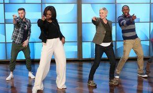 Michelle Obama et Ellen Degeneres  sur le plateau du «Ellen Show».