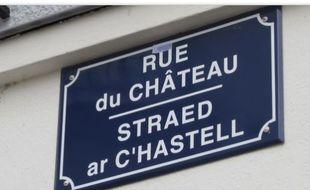 Panneau rue Bretagne