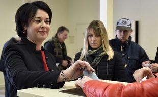 Sylvia Pinel, candidate PRG à la primaire de la gauche, a voté ce dimanche matin à Castelsarrasin, dans le sud-ouest.