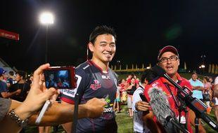 L'arrière japonais Ayumu Goromaru le 12 février 2016 en Australie