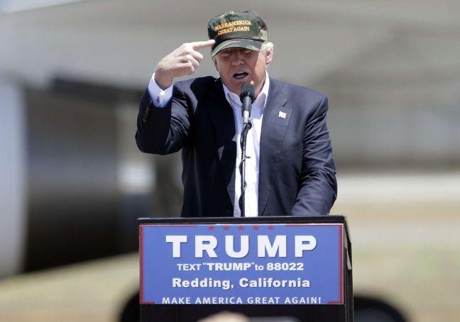 Donald Trump, le 3 juin 2016, à Redding.