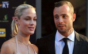 Reeva Steenkamp et son compagnon, Oscar Pistorius, le 4 novembre 2011