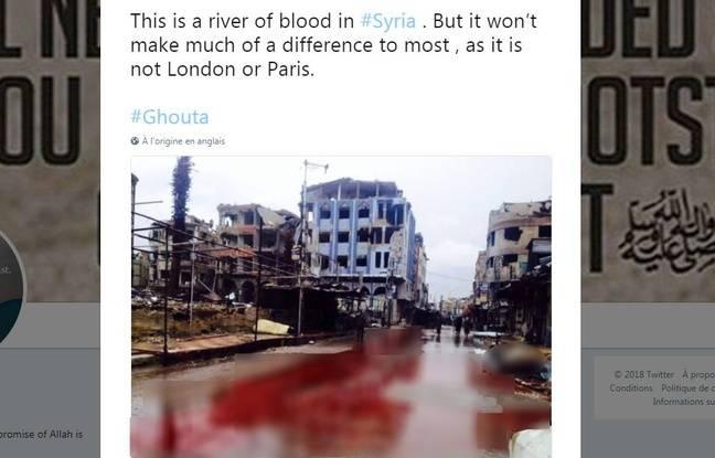 Cette photo montre bien une ville de la Ghouta, mais elle a été prise en 2015.