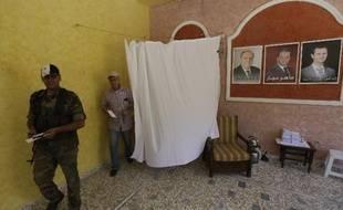 Un bureau de vote dans la ville de Homs, le 3 juin 2014