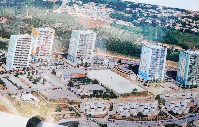 La cité des Tritons, et ses cinq tours, avant 2000.