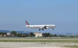 Marseille, le 25 juin 2015, un avion d'Air France a Marignane.