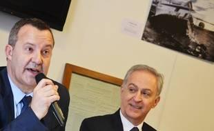 Stephan Rossignol (LR) et Joseph Francis (UDI), mercredi.