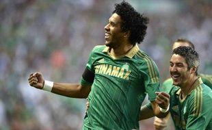 L'attaquant de Saint-Etienne Brandao le 1er août 2013 contre Milsami.